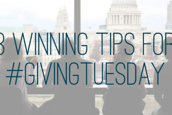 3 winning tips for givingTuesday
